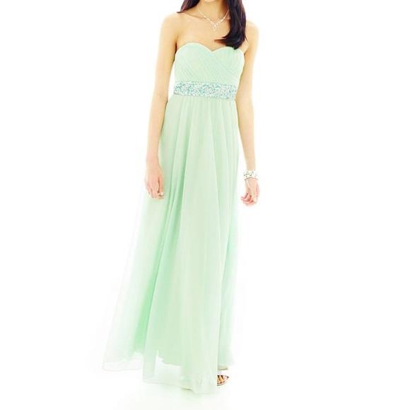 Jcpenney Dresses Seafoam Green Prom Dress Poshmark